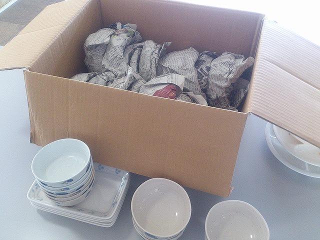 特定非営利活動法人WE21ジャパンに寄付した食器